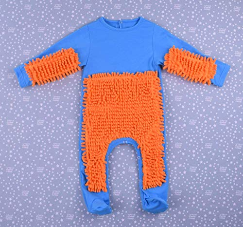 CHRRI Baby Romper, Kinder-MOP Jumpsuit Baumwollmantel Junge Mädchen Krabbeln...
