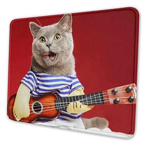 CLERO & Mauspad Katze spielt Gitarre lustige Katzen Mousepad Computer Laptop...