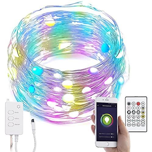 WINBST 100 RGB LED Kugellichterkette, 5v 10M Außen LED Lichtschlauch...
