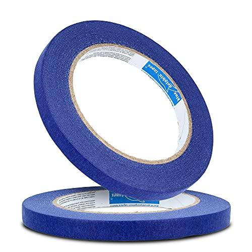 Blue Dolphin™ Profi Malerband 10 mm x 50 m Blau Kreppband Malerkrepp  ...