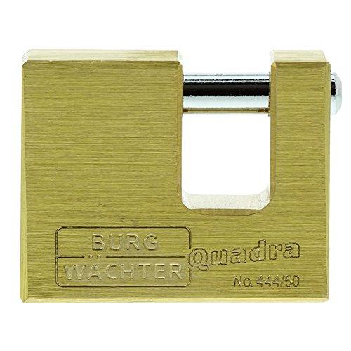 Burg-Wächter Vorhängeschloss, 7 mm Bügelstärke, Kneifschutz, 2 Schlüssel,...