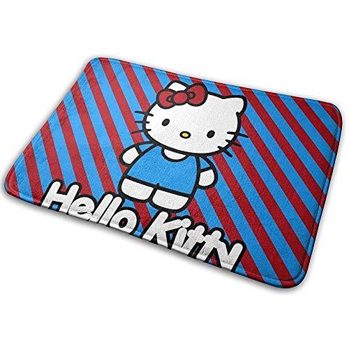 Liumt Welcome Fußmatte Rutschfester Teppich Hello Kitty Indoor Outdoor...