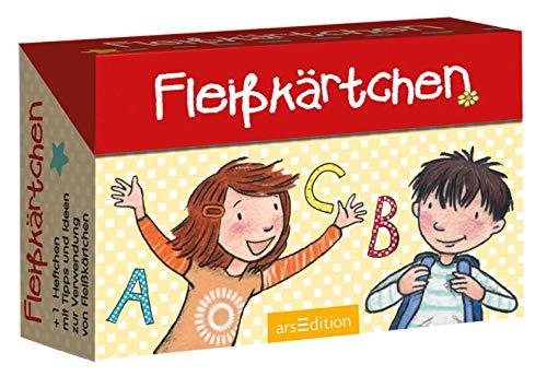 Fleißkärtchen: 80 lustige Karten mit Bildern und Witzen in einer Kartenbox...