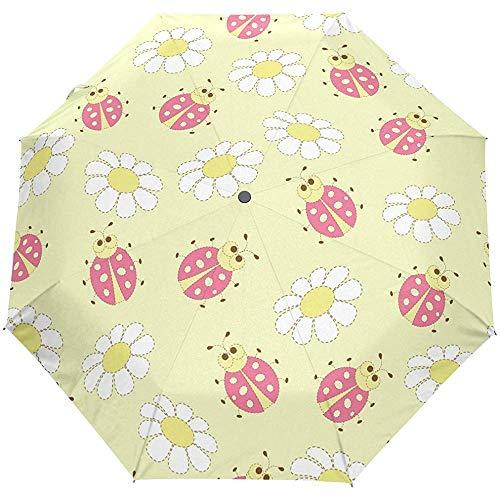 Nette Käfer-Blumenblumen-Gänseblümchen-Auto-Öffnen-Schließen-Regenschirme...