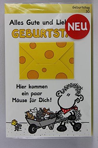 Sheepworld - 55469 - Stanzkarte, Klappkarte Nr. 30, Geburtstag, mit Umschlag,...