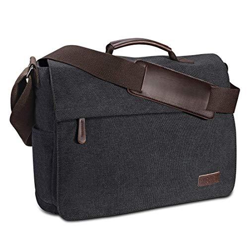 Umhängetasche Herren aus Vintagem Segeltuch, Premium Herrentasche, Laptoptasche...