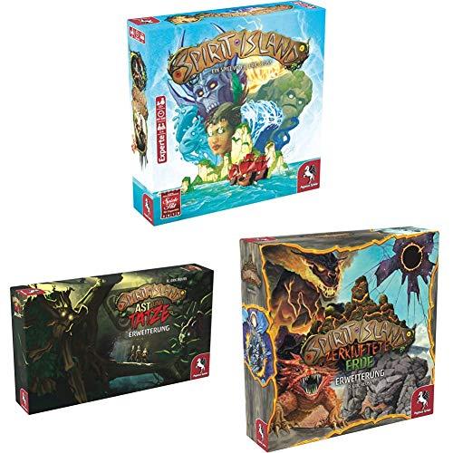 Pegasus Spiele 51896G - Spirit Island (deutsche Ausgabe) + AST und Tatze...