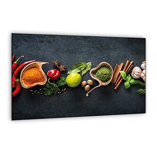 decorwelt | Herdabdeckplatte 80x52 cm 1-Teilig Essen Bunt Ceranfeldabdeckung...
