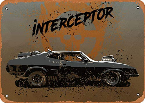 Keviewly Metallschild im Vintage-Look – Mad Max Fury Road Cars Interceptor Mad...
