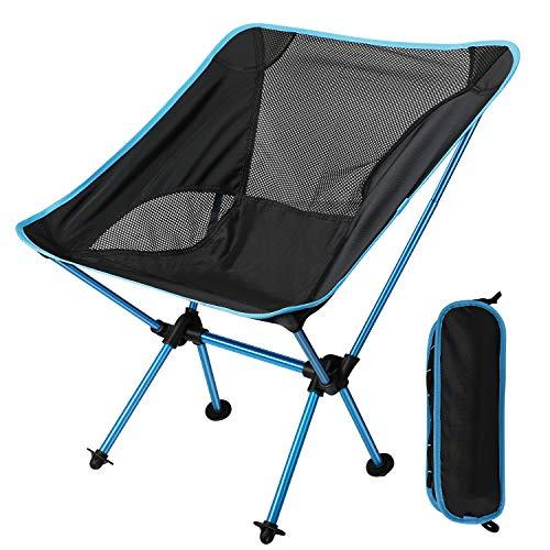 EXTSUD Ultraleichter Campingstuhl Anglerstuhl Klappstuhl kompakter tragbar Stuhl...