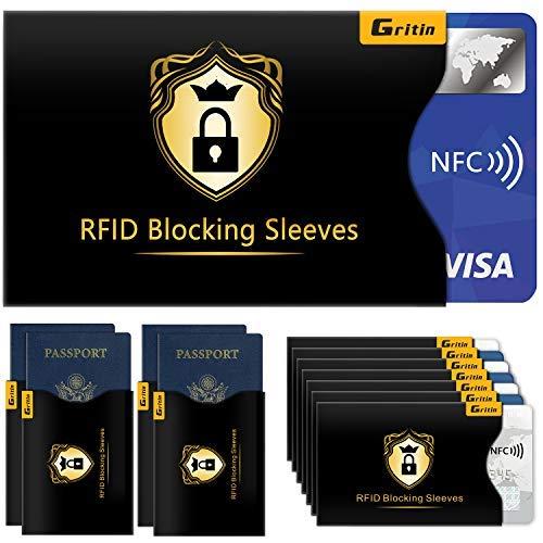 RFID Schutzhülle (18 Stück) Gritin NFC Schutzhülle Kreditkartenhüllen...
