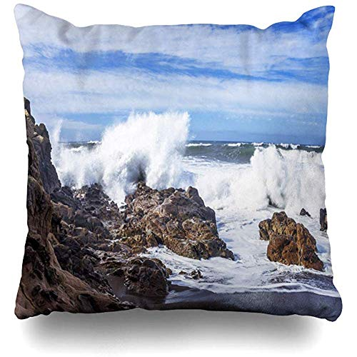 MAMAARE Mamaure Kissenhülle mit blauem Meereshimmel, weiße Wolken,...