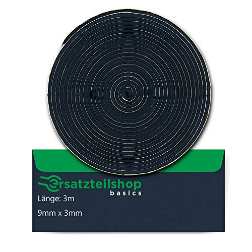 ersatzteilshop basics Dichtband Dichtung 9mm(B) x 3mm(D) zur Montage von...