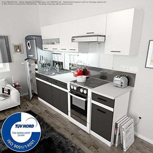 Küche 240cm von FIWODO - ERWEITERBAR - günstig + schnell - Einbauküche Junona...