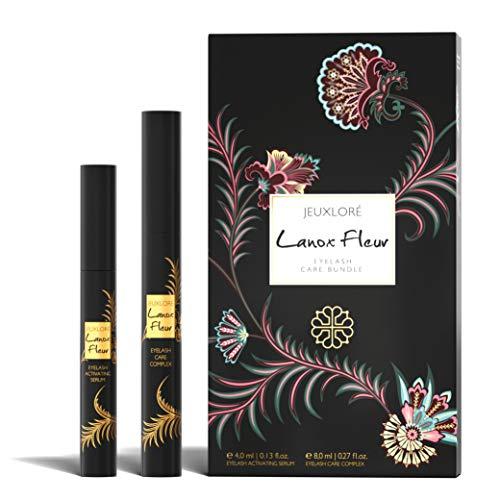 JEUXLORÉ - Lanox Fleur Eyelash Care Bundle - Wimpernpflege Set mit 4 ml...