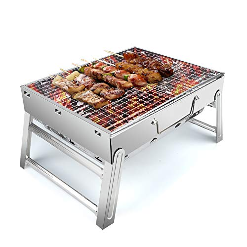 UTTORA Grill Edelstahlgrill,BBQ Barbecue,Faltbarer Grill tragbarer...