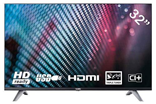 YASIN YT32HTB1 80 cm (32 Zoll) LED Fernseher (HD, Triple Tuner, CI+, 2X HDMI,...