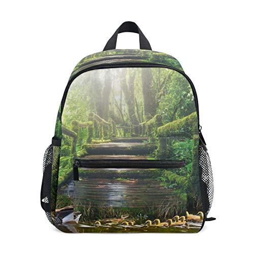 Kleiner Rucksack mit Teichenten, Naturbaum, für Mädchen, Jungen, Kinder,...