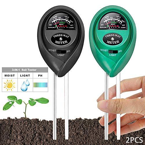 MEISHANG Boden Feuchtigkeit Meter,Bodenmessgerät Feuchtigkeitsmesser,3 In 1...