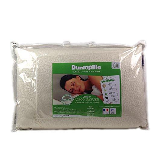 Dunlopillo Visco Nature Kopfkissen, 45x 70cm, Weiß