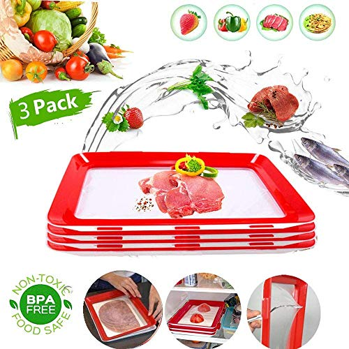 Essen Frisch Tablett, GHONLZIN Tablett für die Lebensmittelkonservierung...