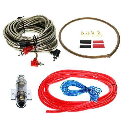 H HILABEE 6GA Auto Stereo Audio Verstärker AMP Kabel Kit 60A Sicherungshalter