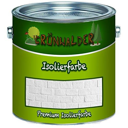 Grünwalder Wandfarbe in WEISS Isolierfarbe Nikotinsperre ANTI SCHIMMEL (1 L)