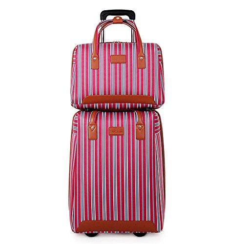 Handgepäck Hartschalenkoffer Weiblich Freizeit Trolley Farbe gestreiften Koffer...