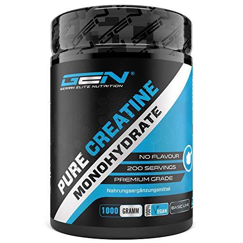 Creatin Pulver - 1kg / 1000 g - Reines Creatin Monohydrat - Optimale...