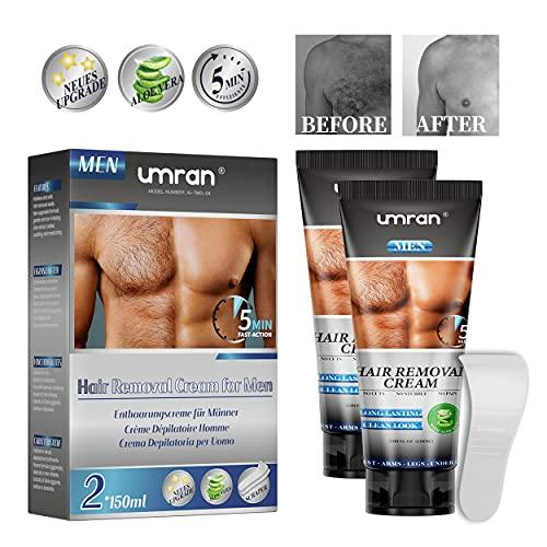 Enthaarungscreme für Männer Frauen 2 X 150ML, Haarentfernungscreme, Aloe Hair...