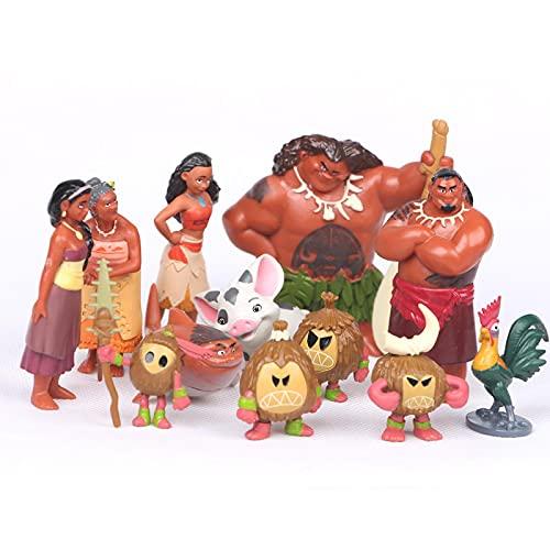 Klycbds 12 Stück / Set Anime Cartoon Moana Prinzessin Legende Vaiana Maui Chef...
