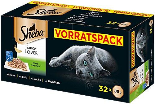 Sheba Sauce Lover – Feine Häppchen in Sauce für ausgewachsene Katzen –...