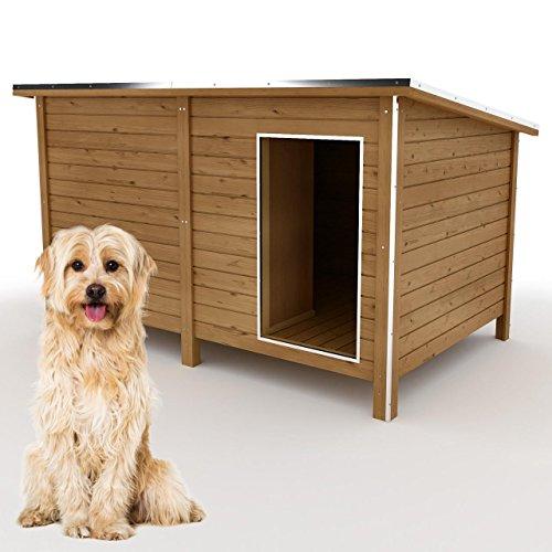 happypet Hundehütte L oder XL - Hundehütte in L-Format, Echtholz-Hütte...