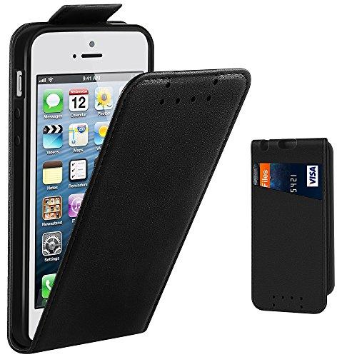 iPhone SE Case, Supad Leather Flip Wallet Slim Case Cover for Apple iPhone SE 5S...