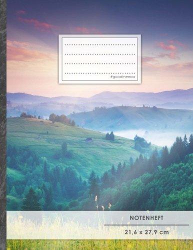 """Notenheft: DIN A4 • 48 Seiten, 24 Blatt, 12 Systeme, """"Wanderschaft"""" •..."""
