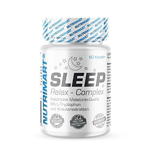 Sleep & Relax Complex - 60 Vegane Kapseln - Natürliche Melatonin-Quelle -...