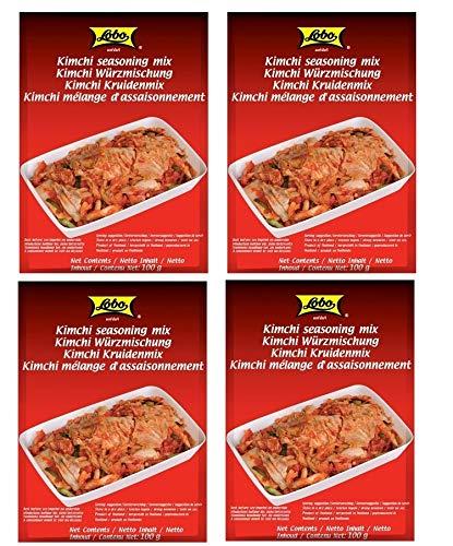 4er-Pack LOBO Kimchi Würzmischung [ 4x 100g ] Kim Chi Würzpaste