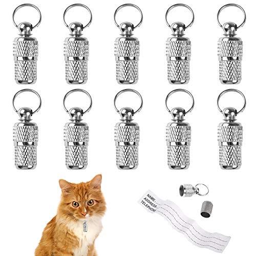 ManLee 10 Stück Adressanhänger für Hunde Katze Halsbandanhänger Metall...