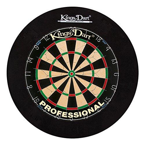 Kings Dart Dart-Set Profi   Turnier-Dartscheibe + Dart-Surround   Sisalborsten,...