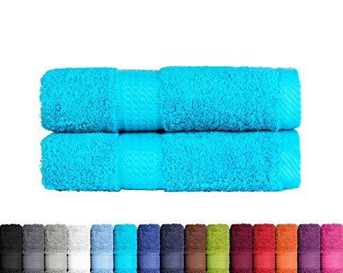 2er Pack Duschtuch in vielen Farben 100% Baumwolle 500 g/m², 2X Duschtücher...