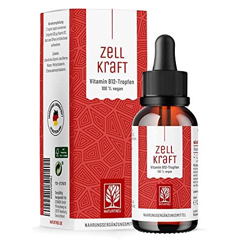 Vitamin B12 Tropfen hochdosiert - 250µg je Tropfen vegan & alkoholfrei -...