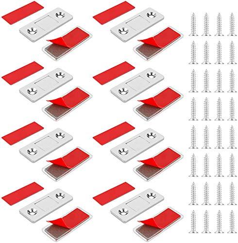 Jooheli Schrank Magnet, Magnetschnäpper 8 Stück Ultra Dünn Magnetverschluss...