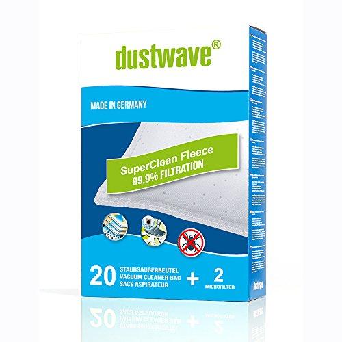 20 dustwave® Staubsaugerbeutel für Adix DIV 290, Adix DIV 400, AFK PS 1800 W.9...