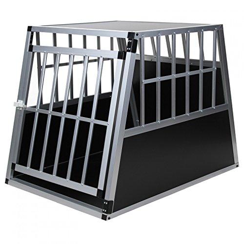 Hundetransportbox Alu Größe xxl von Jalano schwarz / silber - Gitterbox...