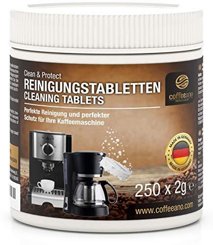 Coffeeano 250 Reinigungstabletten für Kaffeevollautomaten und Kaffeemaschinen...
