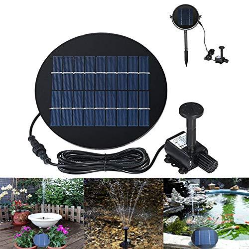 GPFDM Solarteichpumpe 9V 2W Solarwasserpumpe Solarbetriebenes Springbrunnen-Kit...