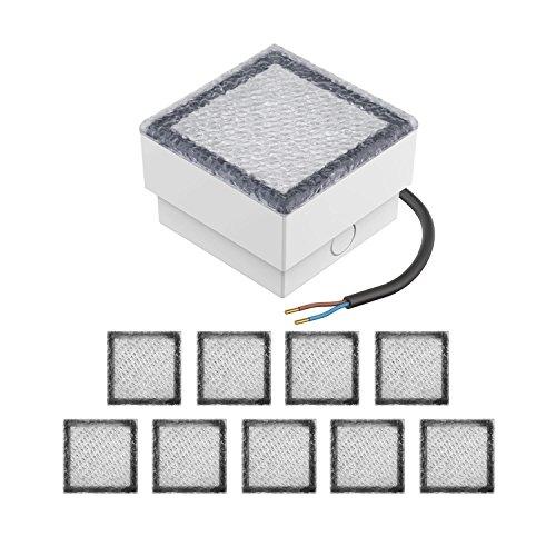 parlat LED Einbaustein Bodeneinbauleuchte CUS 10x10cm 230V warm-weiß, 10 STK.