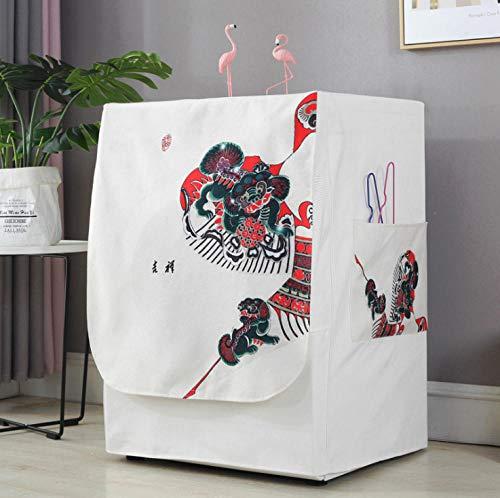 Waschmaschine Abdeckung Chinesisches Muster 60X60X83Cm Wasserdicht Staubdicht...