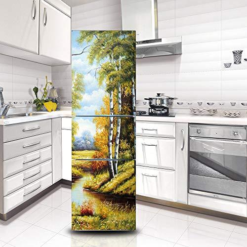 Ruifulex Kühlschrank Aufkleber Selbstklebende Aufkleber, Kühlschrank Tür...