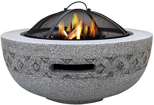 KAYBELE HLEOZ Feuerschüsseln für Gartenfeuergrube mit BBQ Grillregal für...